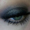 Black shimmer eyeshadow
