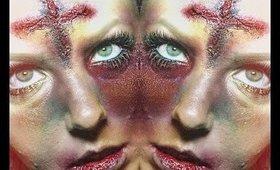 Simple Demonic SFX Makeup Creepy Video
