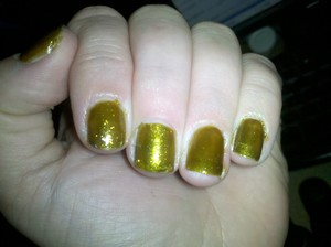 Thumb, Middle, & Pinkie : Orly's 'It's Not Rocket Science'  Index & Ring: CG's 'Zombie Zest'