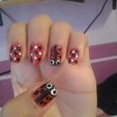 my ladybug nails (: