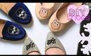 5 Minute GIFT DIY Shoes  $500 GIVEAWAY   Monogram/Skull/Owl