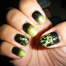Black/Limegreen Gradient and Crackle