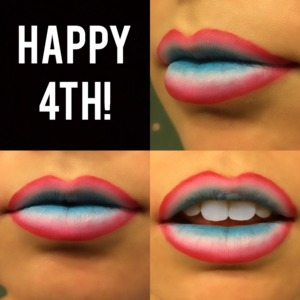 Happy 4th of July everyone!!  Here are some festive lips for you to wear to that BBQ and firework show.   Red: OCC Pencil - NSFW White: MAC Pencil - Pure White Blue: OCC Pencil - Pool Boy