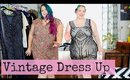 Plus Size Vintage Fashion Dress Up Try On 1920s & 1930s