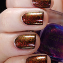 Layering: W7 - 28 Black, China Glaze - Ruby Pumps & Max Factor - 45 Fantasy Fire by honeymunchkin.com