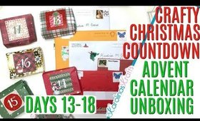 Crafty Christmas Countdown Calendar Unboxing DAYS 13-18, Crafty Countdown Swap Embellishment Swaps