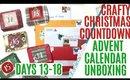 Crafty Christmas Countdown Calendar Unboxing DAYS 13-18, Crafty Countdown Swap Embellishment Swaps