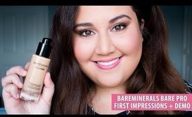 bareMinerals Bare Pro Liquid Foundation First Impressions Review + Demo | Meagan Aguayo
