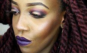 Makeup de soirée aux couleurs intense