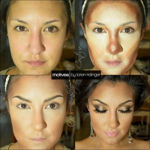 """instagram : @auroramakeup FB: https://www.facebook.com/AuroraAmorPorElMaquillaje  Hola preciosas!!! Aqui estan los detalles de cada uno de los pasos a seguir con los productos, en unos momentos mas estara el maquillaje de los ojos . Hi dolls!!! Here are the details of the look on the video , eye makeup will be ready soon  Productos /Products Motives by Loren Ridinger You can find them on/Puedes encontrarlos en: http://www.motivescosmetics.com/ (USA & CANADA) http://www.globalshop.com/ ( Internacional)   STEP1 //PASO1 Apply Perfecting Face Primer on clean face Aplica la Prebase de Rostro de Motives sobre el rostro limpio  STEP1 //PASO2 Place any shade of Color Perfection Quad in DARK , on deep parts around drawing a sharper contour of your face. Place any shade of Color Perfection Quad in LIGHT on higher parts of the face that we want to emphasize Optionally I use Color perfection Quad in MEDIUM just as transition color between both colors applied before. Aplica cualquiera de los correctores en el """"Color Perfection Quad"""" oscuro DARK en las partes profundas del rostro dibujando una forma mas marcada y nitida. Aplica cualquiera de los correctores en el """"Color Perfection Quad"""" claro LIGHT en las partes que deseas enfatizar. Opcionalmente yo uso el """"Color Perfection Quad"""" medio MEDIUM entre ambos tonos marcados como transicion .   STEP3 //PASO3 Blend all the cream products applied with a sintetic brush or moistened sponge Difumina los correctores aplicados con una brocha de cerdas sinteticas o una esponja humeda   STEP4//PASO4 Set all in place using Translucent Lose Powder in DARK and LIGHT tones according each tone of the face. Use a fluffy brush Sella en su lugar todo lo aplicado usando lo Polvos Translucidos en los colores DARK y LIGHT de acuerdo a cada tono en el rostro. Usa una brocha suelta .  STEP5 //PASO5 Draw your brows, I used Dip Brow Pomade in BLONDE and EBONY by Anastasia Beverly Hills Highlight check bones, above top lip and bridge of the nose with Pain Pot"""