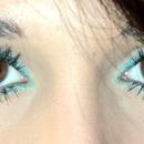 blue eyeliner :)