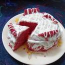 strawberry bridal cake