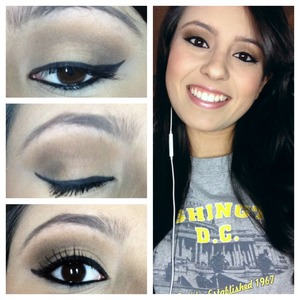 Natural cat eye look with too faced matte look
