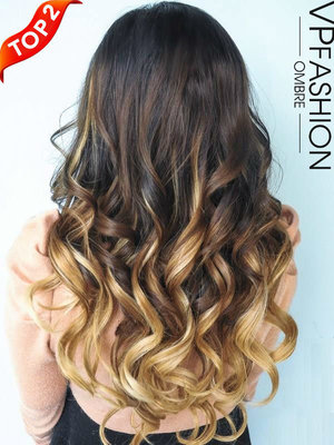 Natural-looking Ombré & Highlights Hair Extensions www.vpfashion.com