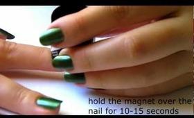 Basic manicure and magnetic nail polish demo