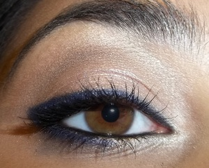 Blue eyeliner is absolutely gorgeous on brown eyes. Such an easy look, too! http://www.justmakeitup3.blogspot.com/2012/09/dipped-in-cobalt.html