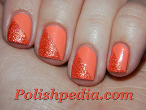 Have you ever used both smooth nail polish and matte nail polish?  See what polishes were used @ http://polishpedia.com/mixed-texture-nails.html