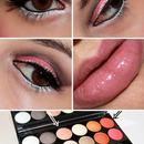 Pink, Black & White Makeup