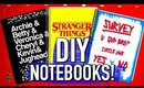 DIY School Supplies! DIY Logan Paul, Riverdale, and Stranger things notebooks!