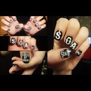 Sons Of Anarchy nail design.