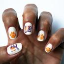 Clemson Tigers Nail Art Decals