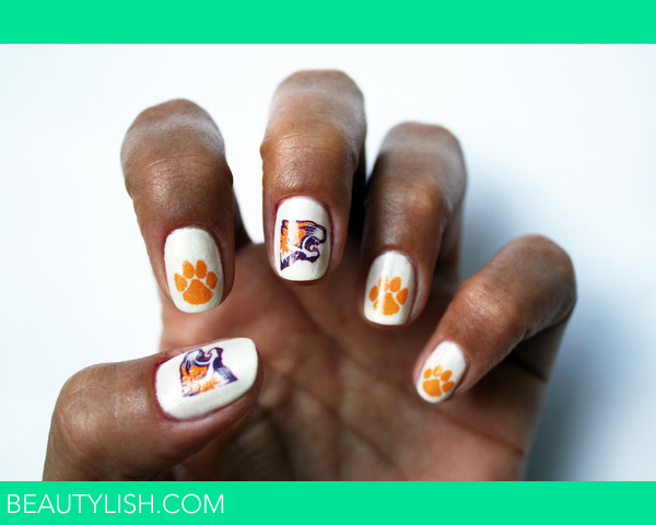 Clemson Tiger Nail Art Decals Shelby Rs Photo Beautylish