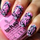 Hearts with cheetah print