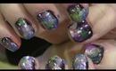 Galaxy inspired nails tutorial