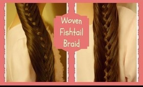 Woven Fishtail Braid Hairstyle Tutorial (Braids N Fashion Inspired)