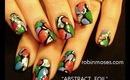 NICKI MINAJ water drop foil design robin moses nail art tutorial