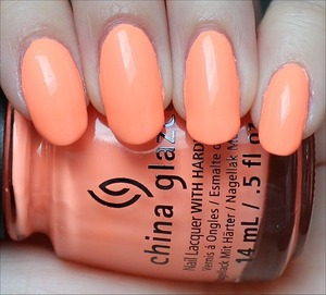 From the Sunsational Collection. Click here to see my in-depth review and more swatches: http://www.swatchandlearn.com/china-glaze-sun-of-a-peach-swatches-review/