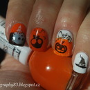 Halloween nails (stamping)
