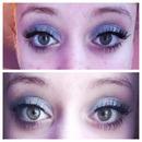 Basic silver shimmer eyeshadow