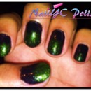 The Dark Ombre Witch Nail