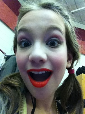 Got my makeup done for under the big top! A circus show!!! I had so much fun and shout out to all my PCC Pals! And everyone in cast and crew love you all!!!