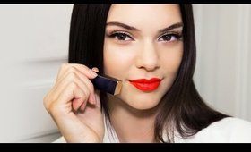 Kendall Jenner Red Lips & Strobing Makeup Tutorial