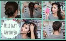 Quick and Easy Hairstyle Tutorial | Military Inspired