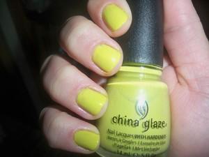 China Glaze 'Electric Pineapple' Two Coats