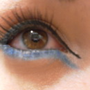 Blue Double Winged Liner
