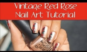 DIY: Vintage Rose Nail Art Tutorial