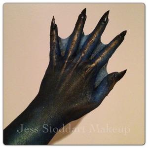 Webbed hand creation by Jess Stoddart Makeup Artist.