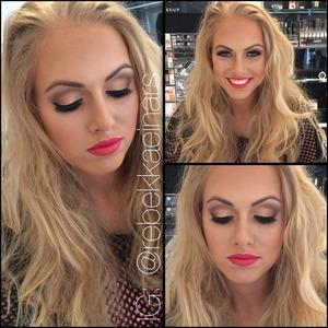 Using NYX Cosmetics Be Fierce palette  Lips are BLL130 INDIGO