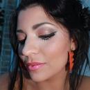 Maquillage simple dorée + brun