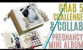 Grab 5 Collaboration & CHALLENGE, Grab 5 Challenge,  Pregnancy Mini Photo Album