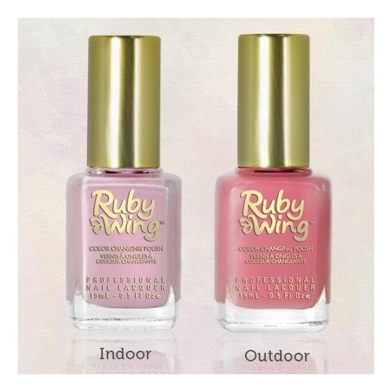 Ruby Nail Polish: Ruby Wing Color Changing Nail Polish Sweet Rose