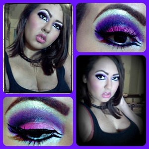 A Pink and Purple smokey eye. Make sure to check out Glama Girls Cosmetics the have some AWESOME products!!!  http://www.glamagirlcosmetics.com
