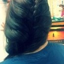 Loose, side, French braid