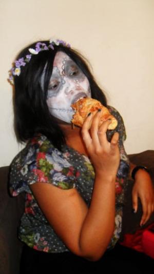 Dia de los muertos eat Almond croissants? WHAT! lol...