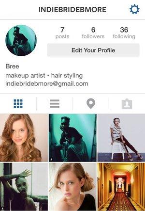 Follow my work as a makeup artist on Instagram @indiebridebmore