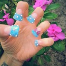 Blue Sculpted Flare Nails